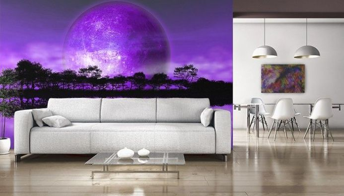Rising moon - alien planet wallpaper murals by Homewallmurals